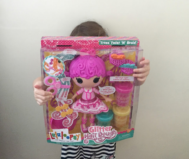 lalaloopsy glitter hair dough doll review
