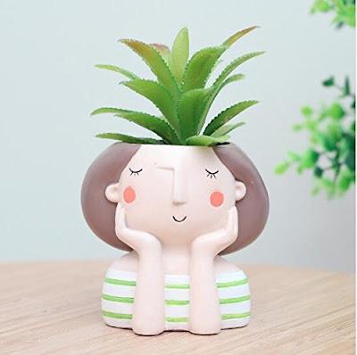 Cute Girl Flower Planter