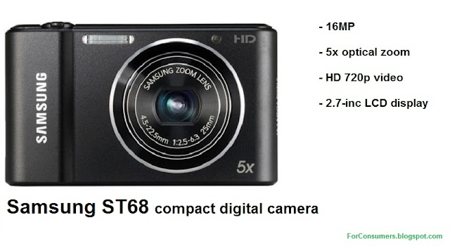 Samsung ST68 compact digital camera
