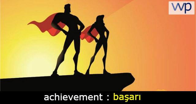 achievement çeviri