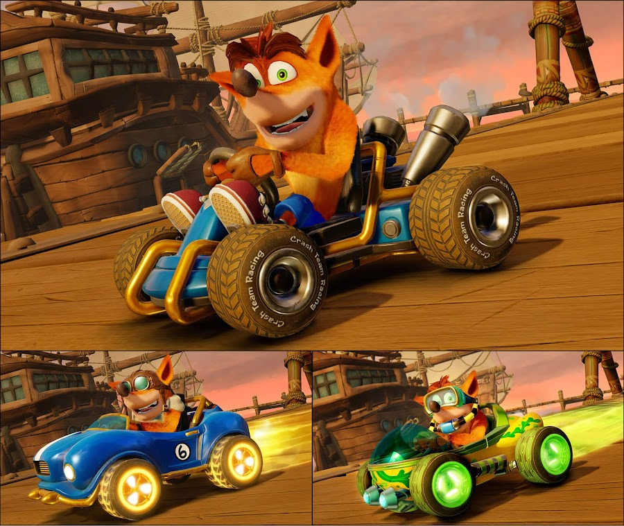 crash team racing nitro fueled remastered cart customization beenox crash bandicoot