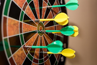 Throw enough of these, and you'll eventually hit the bulls-eye. But when you do, it doesn't mean you're a pro...