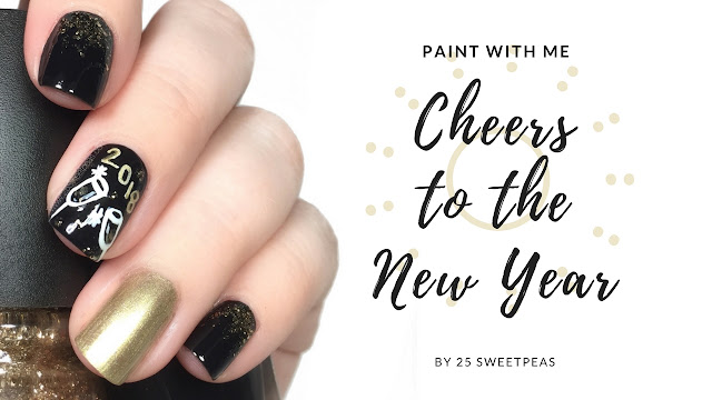 Paint With Me New Years Nail Art