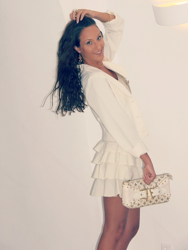 chic girly trendy total white summer looks