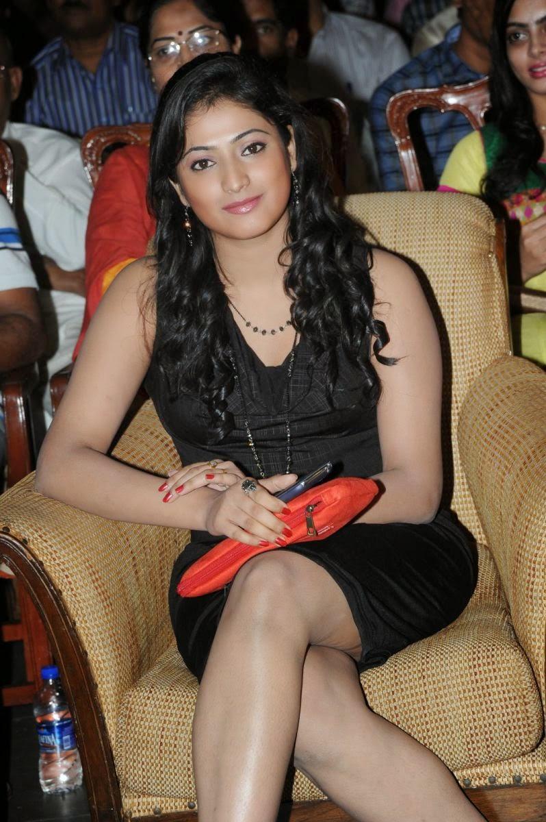 Beautiful Hari priya hot photos in short black dress