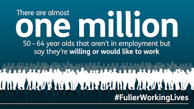 """Fuller working lives"" banner."