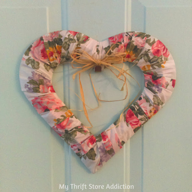 15 minute Floral Heart Wreath