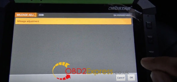 Obdstar X300 DP correct odometer on jeep (8