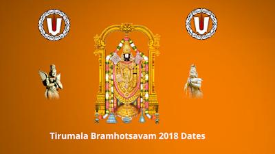 Tirumala Bramhotsavam 2018 Dates, Schedule & Vahanams