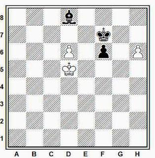 Estudio artístico de ajedrez compuesto por Richard Reti (Narodni Listy, 1928)