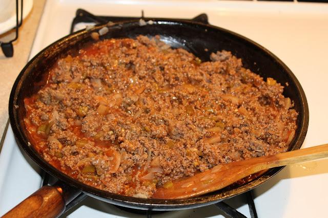 ground beef mixture stir