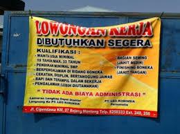 Lowongan Kerja Pabrik Garment Di Bekasi PT Leo Korinsia | SMP | SMA/Sederajat