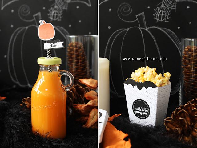 Halloween dekoráció popcorn tasak