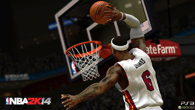 NBA 2K14 Body to Body Collions - Dunk