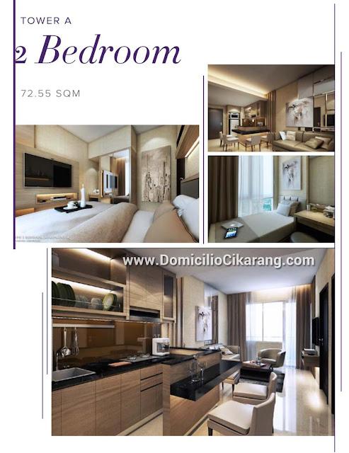 Interior Design Apartemen Domicilio Cikarang Tipe 2 BR