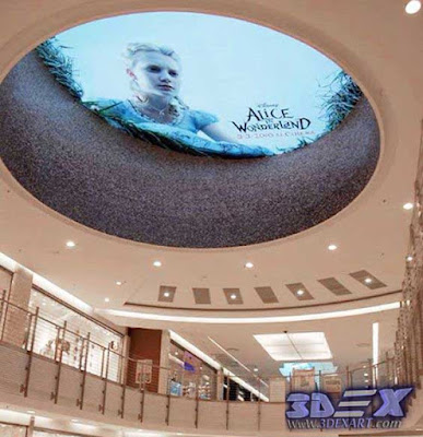 3d ceiling mural on mall false ceiling
