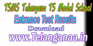 TSMS Telangana TS Model School Inter Entrance Test Results Download
