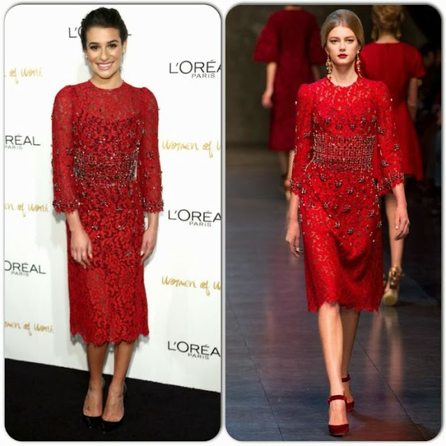 Lea Michele in Dolce & Gabbana(Fall 2013) – L'Oreal Paris Women of Worth 2013