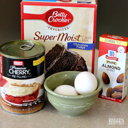 Ingredients for Chocolate Cherry Cake by Renee's Kitchen Adventures