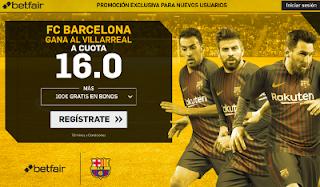 betfair supercuota victoria del Barcelona al Villarreal 10 diciembre