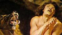 Detail from 'Daniel in the Lion's Den,' by Peter Paul Rubens c. 1615