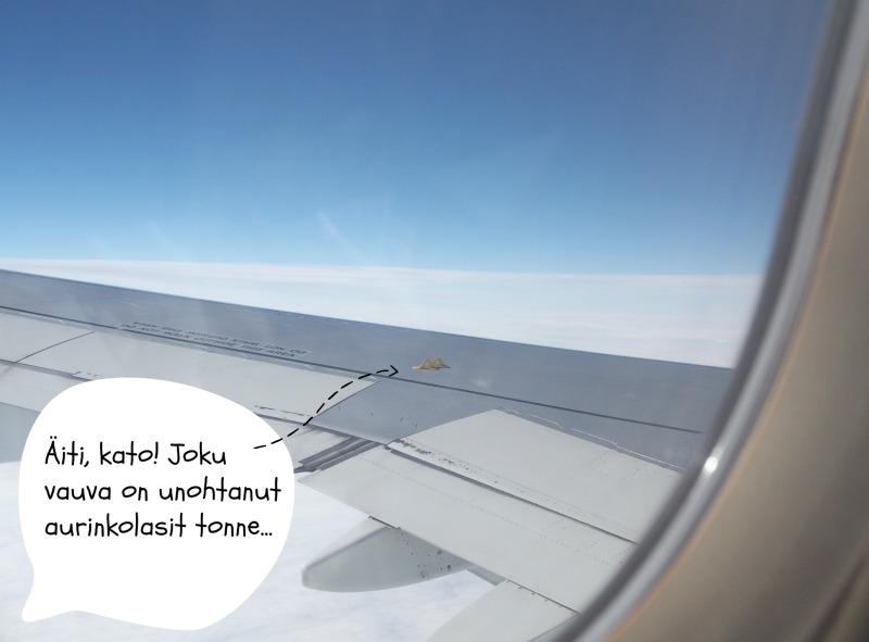 lasten kanssa lennolla