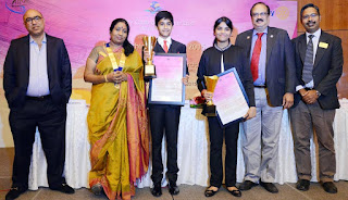 """Young Achiever Award"" presented by The Rotary Club of Madras East"