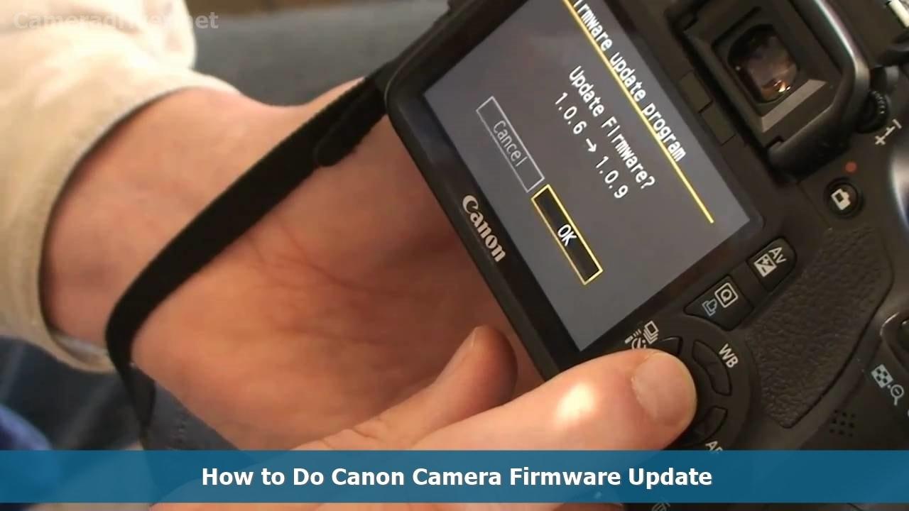Canon Camera Firmware Update