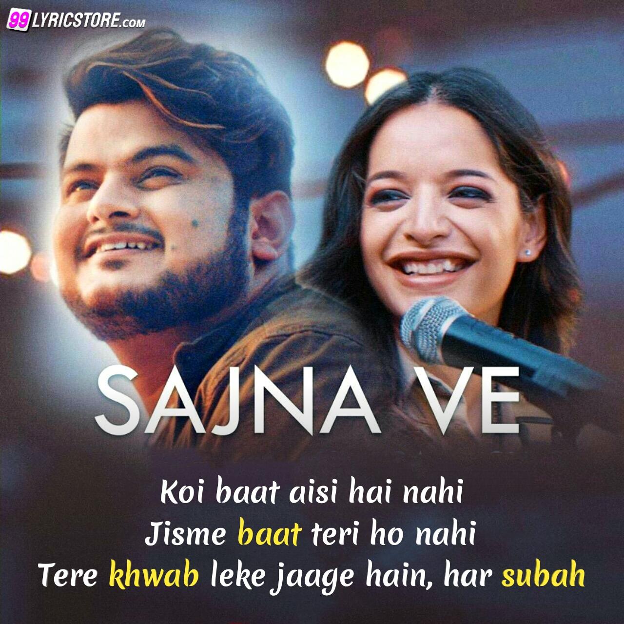 Sajna ve love song sung by Vishal Mishra and Lisa Mishra