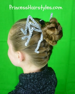 Braided Spider Hairstyle For Halloween or Crazy Hair Day!