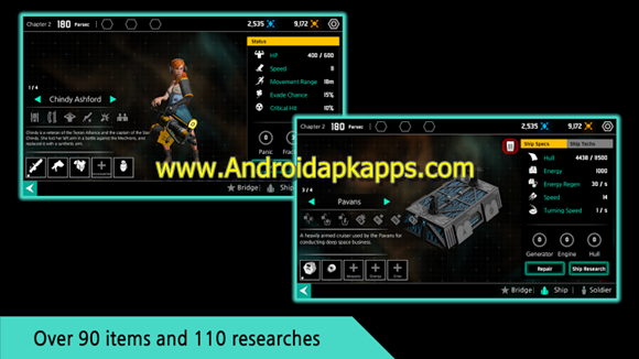 Star Chindy SciFi Roguelike Apk MOD v2.3.6 Full OBB Data Latest Version Gratis 2016 Free Download