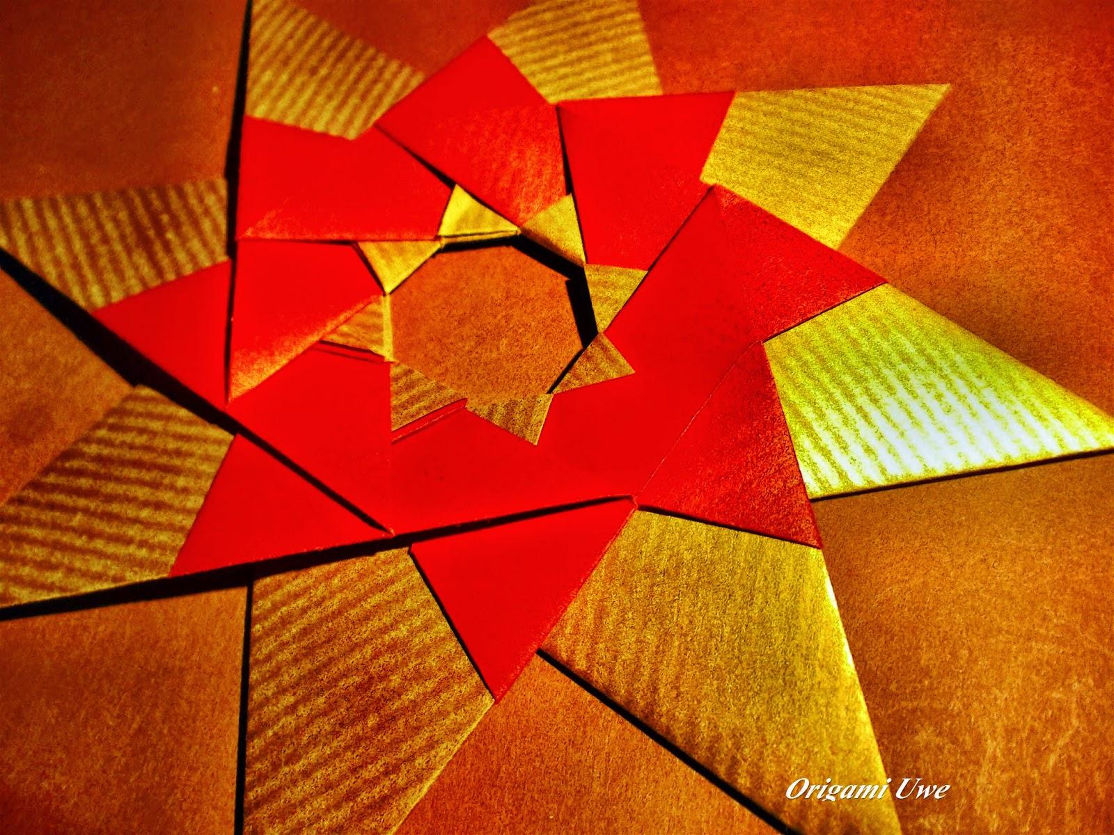 Origami, Fleurogami und Sterne: Modular Origami Star - photo#47