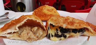 Las Deliciosas empanadas fritas pino de loco y aceitunas
