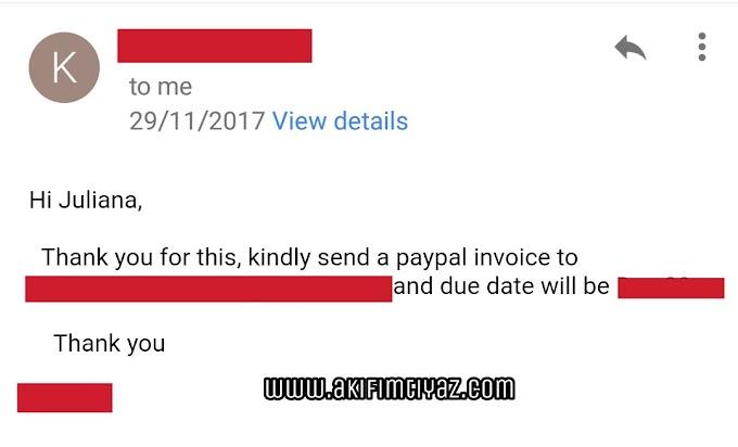 Cara Buat Invois Guna Akaun PayPal