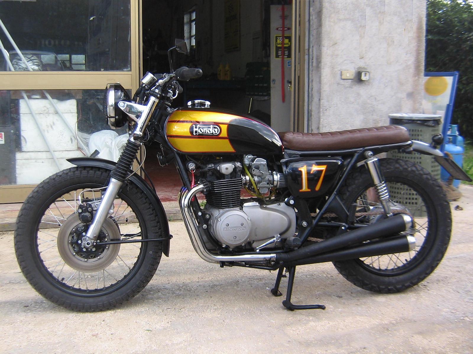 caf sport motorcycles honda cb 500 four scrambler by. Black Bedroom Furniture Sets. Home Design Ideas