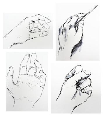 'My Hand' Pen & Ink