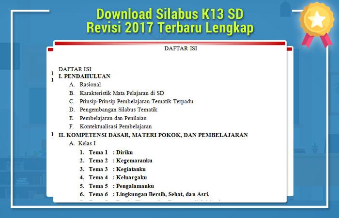 Silabus K13 SD Revisi 2017