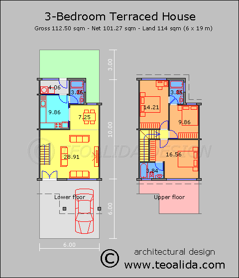 المبدعون Designers خريطة بناء واجهة 6 متر و نزال 19 متر