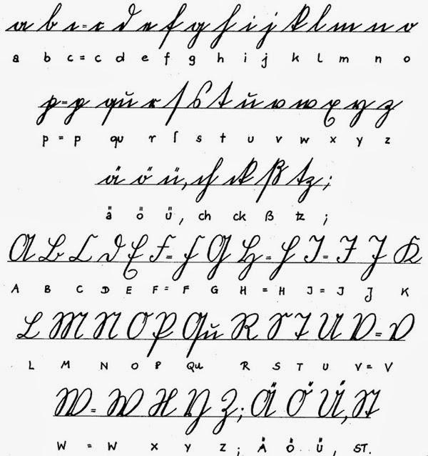 Alphabet In Handwriting on French Script Handwriting