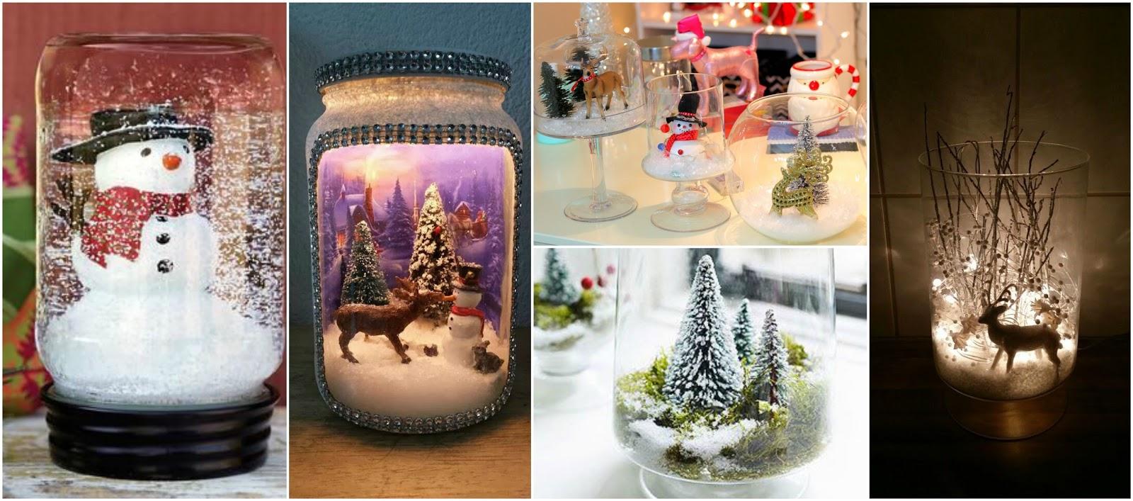 Aprende c mo hacer nieve artificial para hacer adornos - Como hacer centros navidenos ...