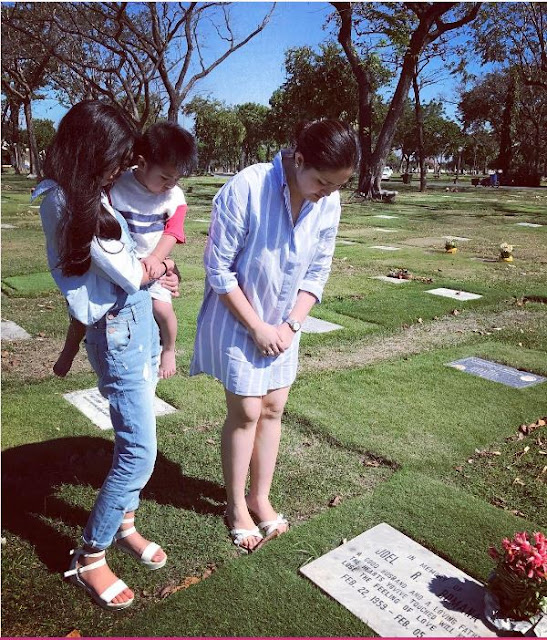 LOOK: Dimples Romana Visits Dad In Cemetery For His 16th Death Anniversary!