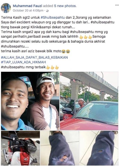 """""""Mulianya Hati Shuib Sepahtu"""" - Luahan Pemuda Yang Terlibat Kemalangan Selepas Dibantu Shuib"""