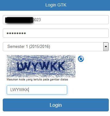 Cek Info GTK / Tunjangan / Lembar Info Guru Link Update