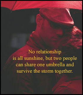 Staying Alive is Not Enough :No relationship is all sunshine, but two people can share one umbrella and survive the storm together