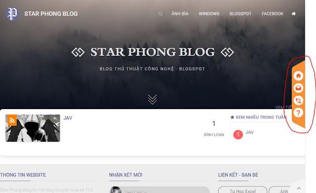 Tạo nút liên hệ trượt dọc theo blog cực đẹp