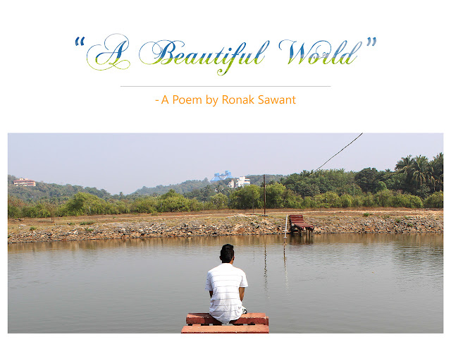 Cover Photo: A Beautiful World - A Poem by Ronak Sawant