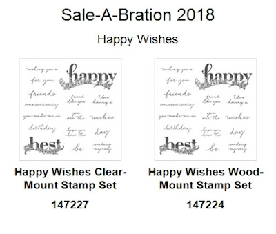 Oakfield Crafts, Sale-A-Bration 2018, Happy Wishes, StampinupUK