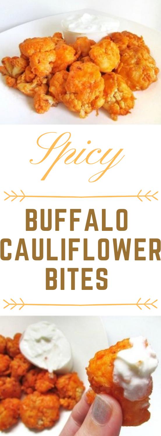 Spicy Buffalo Cauliflower Bites #dinner #buffalo