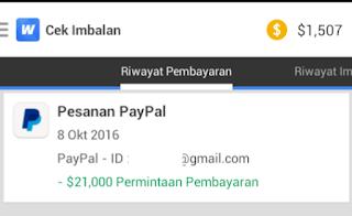 Penukaran Saldo dengan Paypal di Whaff
