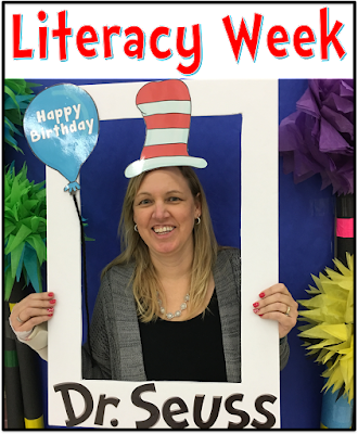 Dr. Seuss week.  Celebrate literacy in your classroom with Dr. Seuss books and activities.  Make a fun Thing one and Thing 2 hat or make Oobleck. for a fun science experiment.